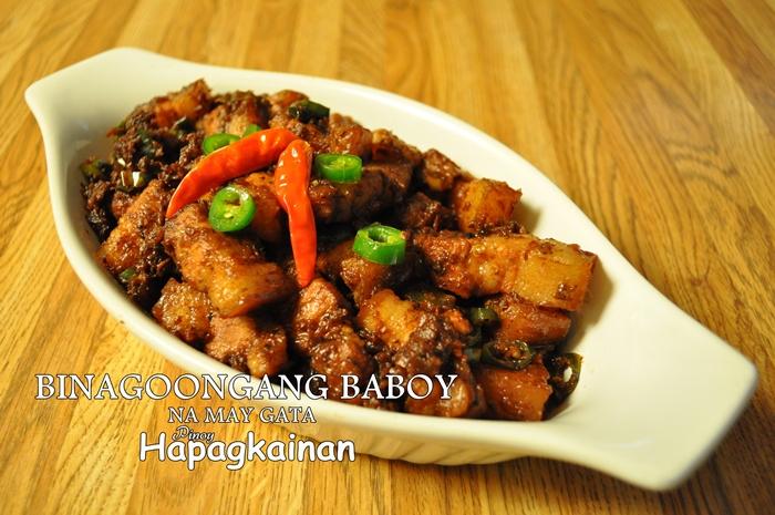 Binagoongang Baboy na may Gata 700