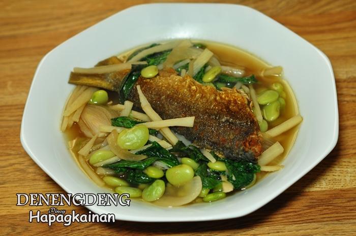 Denengdeng na labong patane at saluyot original recipe for Fish and vegetable recipes