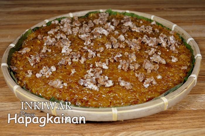 Inkiwar pinoy hapagkainan cooking pinoy hapagkainan a native ilokano sticky rice cake dessert or meryenda which is made of dudumen or an ordinary glutinous rice cooked in thickened caramelize coconut milk forumfinder Choice Image